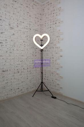 Кольцевая лампа сердце 48 см