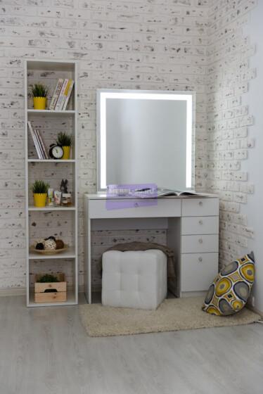 Серия №2  белый 100*80 , зеркало светодиодное 80*80 фото 1