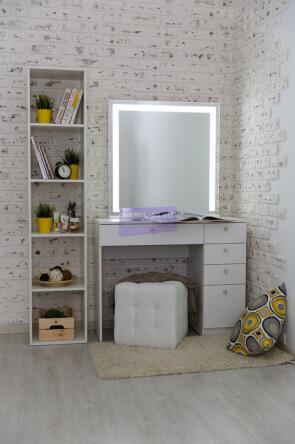 Серия №2  белый 100*80 , зеркало светодиодное 80*80