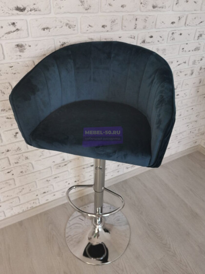 Барный стул LM-5025 (синий велюр) фото 1