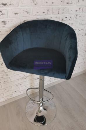 Барный стул LM-5025 (синий велюр)