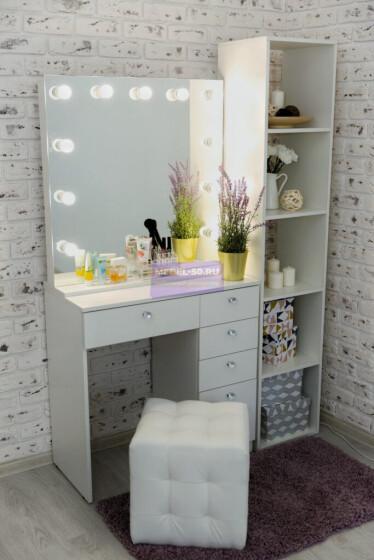 Серия №2 белый, зеркало без рамы 80*80 фото 1