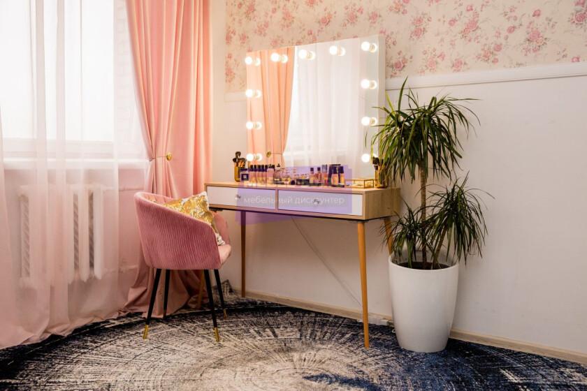 Стол на деревянных опорах. Цвет Сонома. Фасад вкладной. Фасад МДФ пленка глянец. Безрамное 100*80 фото 6
