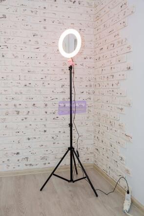 Кольцевая лампа с зеркалом 26 см