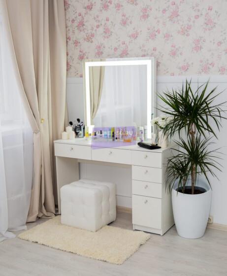 Серия № 2 -120 белый , зеркало светодиодное 80*80 фото 1