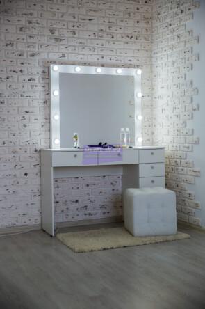 Серия №2 120*80 белый , зеркало в раме 100*80
