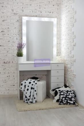Серия №2  белый 100*80 , зеркало в раме 80*100 высокое