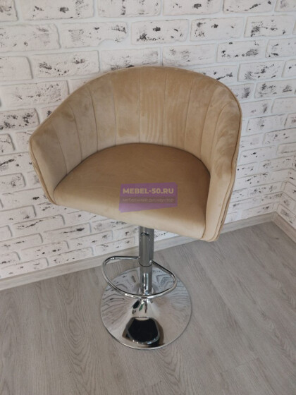 Барный стул LM-5025 (песочный велюр)