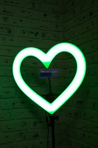 Кольцевая лампа сердце 48 см «4»