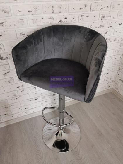 Барный стул LM-5025 (серый велюр)