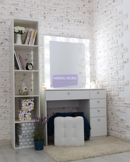 Серия №2  белый 100*80 , зеркало в раме 80*80 фото 1