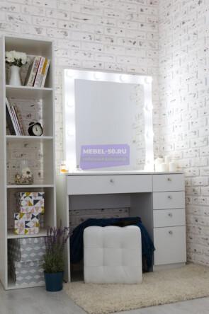 Серия №2  белый 100*80 , зеркало в раме 80*80