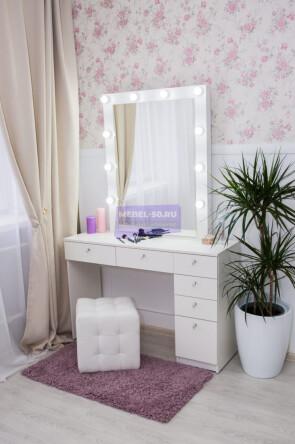 Серия № 2 -120 белый , зеркало в раме 80*100