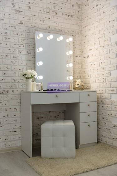 Серия №2  белый 100*80 , зеркало без рамы 60*80 фото 1