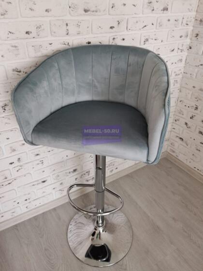 Барный стул LM-5025 (серо-голубой велюр)
