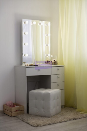 Серия №2 белый , зеркало без рамы 60*80