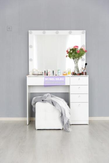 Серия №2  белый 100*80 , зеркало в раме 100*80 фото 1