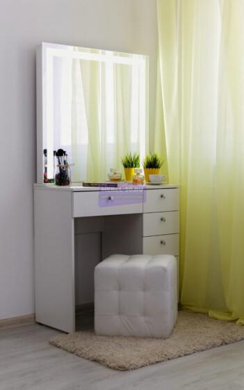 Серия №2 белый, зеркало светодиодное 80*80
