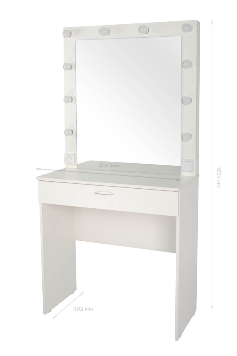 Серия 1 (консольная) Стол 100*80 Цвет Белый. МДФ пленка глянец. Стеклянная столешница. Узор «Люксембург» Светодиодное 100*80